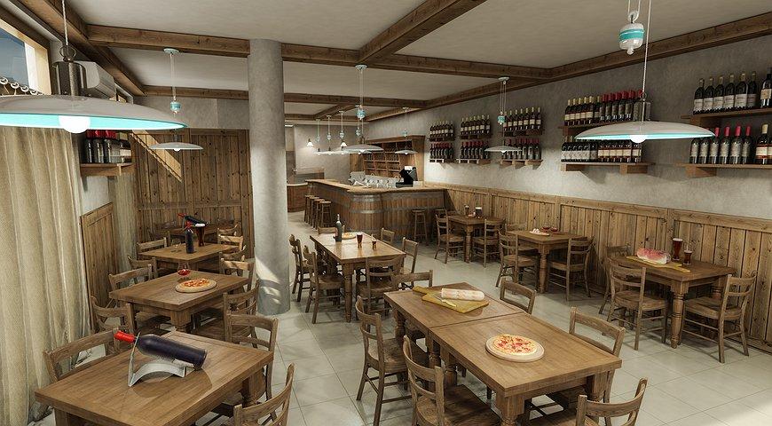 Studio sagitair architettura interior design render for Costruire un biliardo