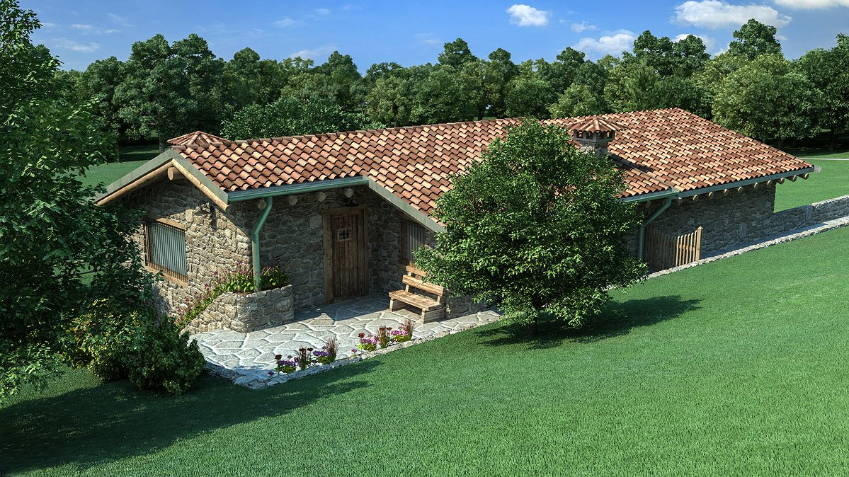 Studio sagitair architettura interior design render for Idee di ranch aggiuntive