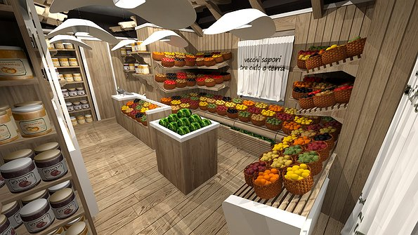 Studio sagitair architettura interior design render for Arredo farmacia usato
