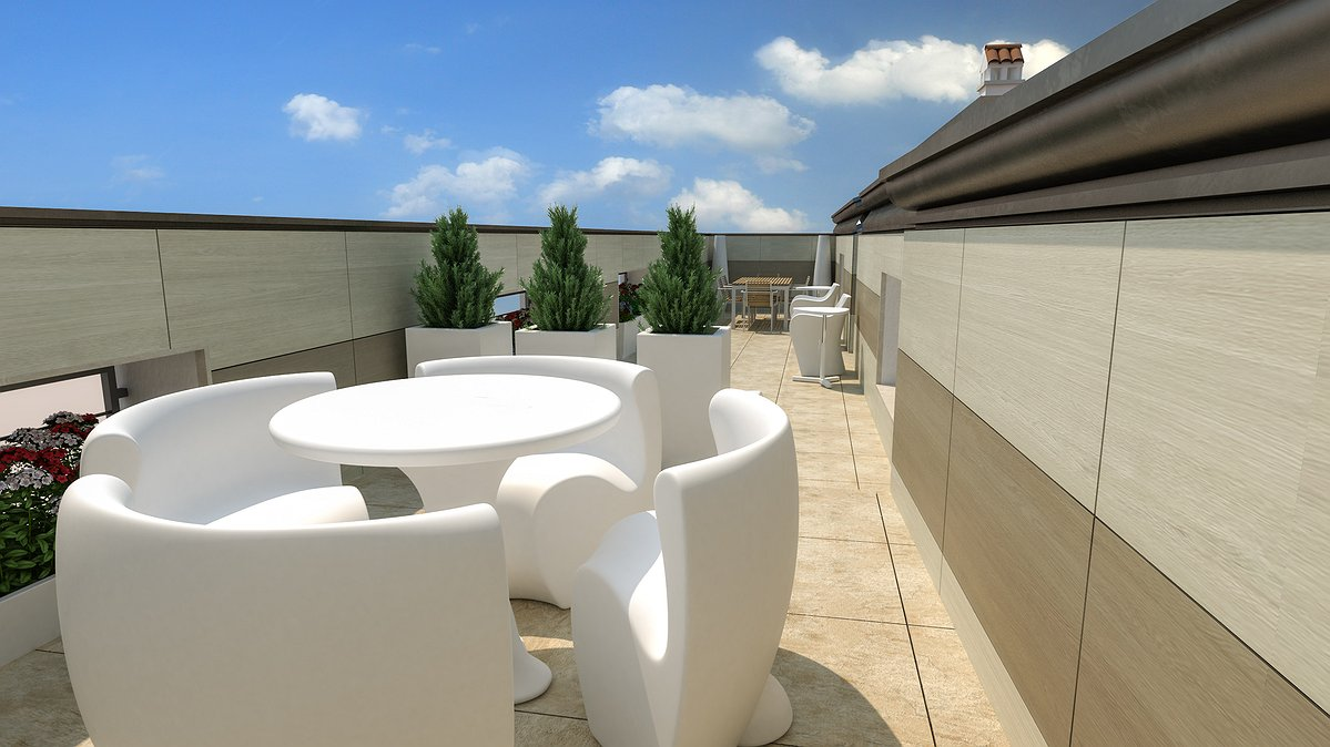 Studio sagitair architettura interior design render for Terrazza arredo esterni