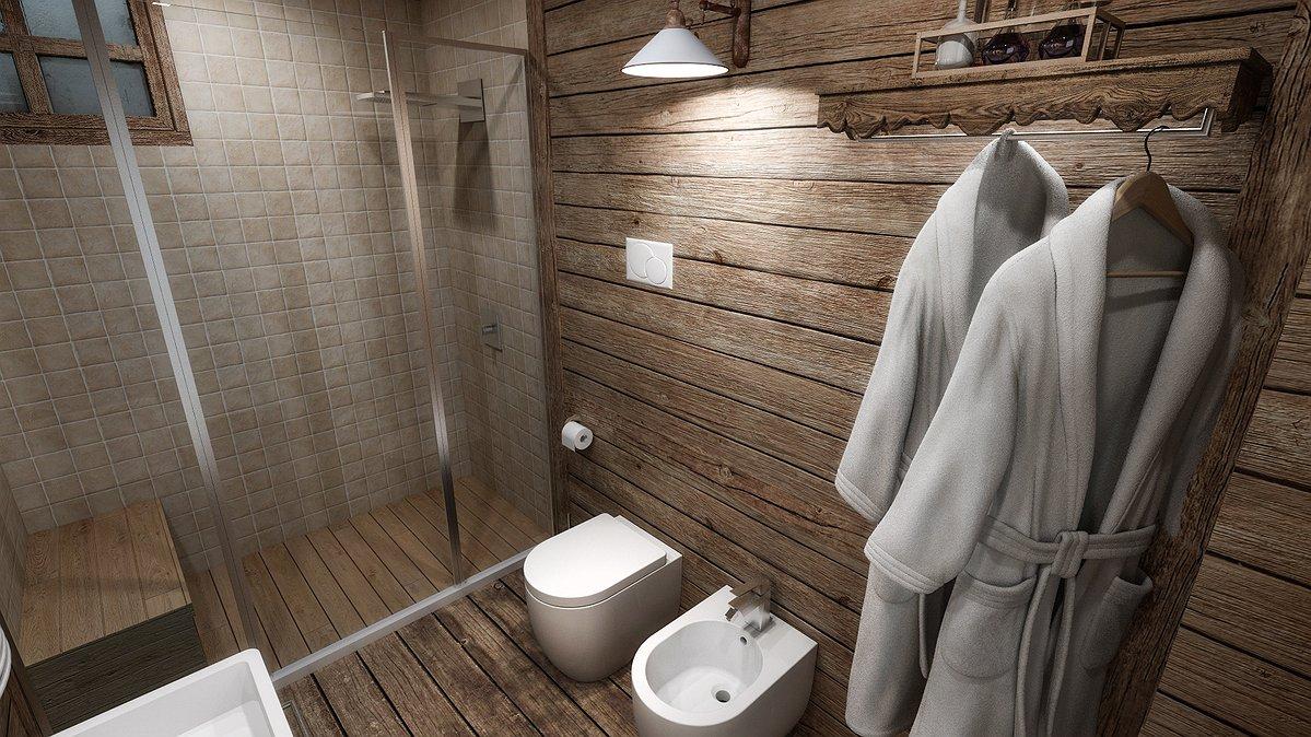 Stipite per porta scorrevole abete for Arredo bagno montagna