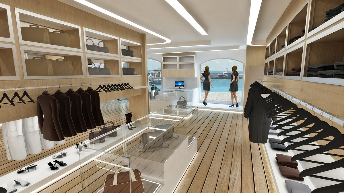 Studio sagitair architettura interior design render for Negozi arredamento trieste