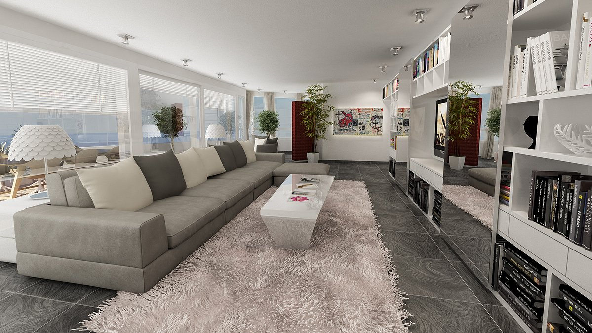 Studio sagitair architettura interior design render for Arredamento attico