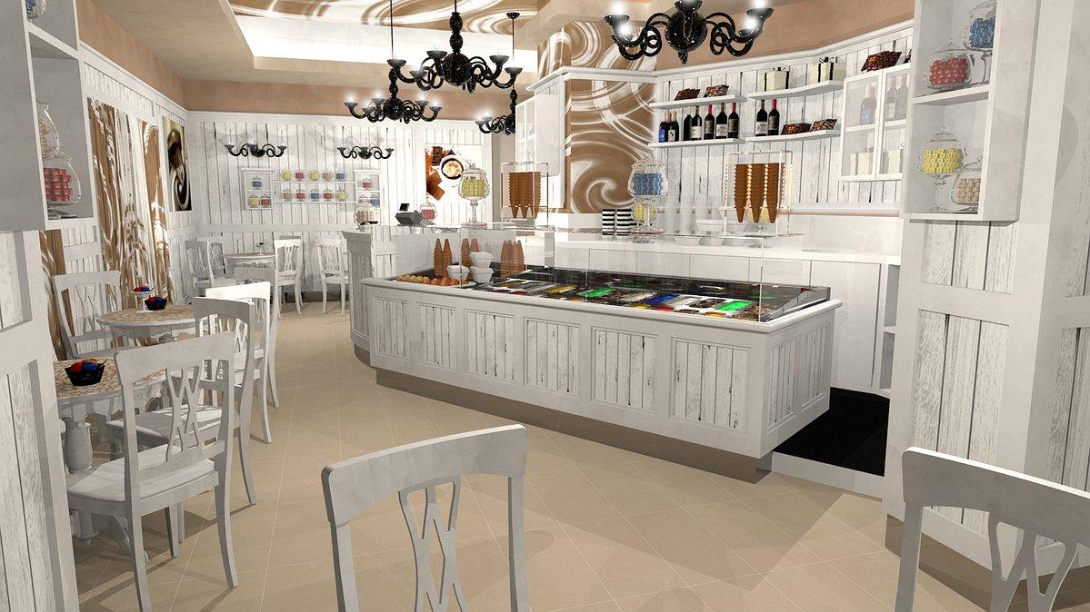 Studio sagitair architettura interior design render for Arredamento bar tabacchi usato