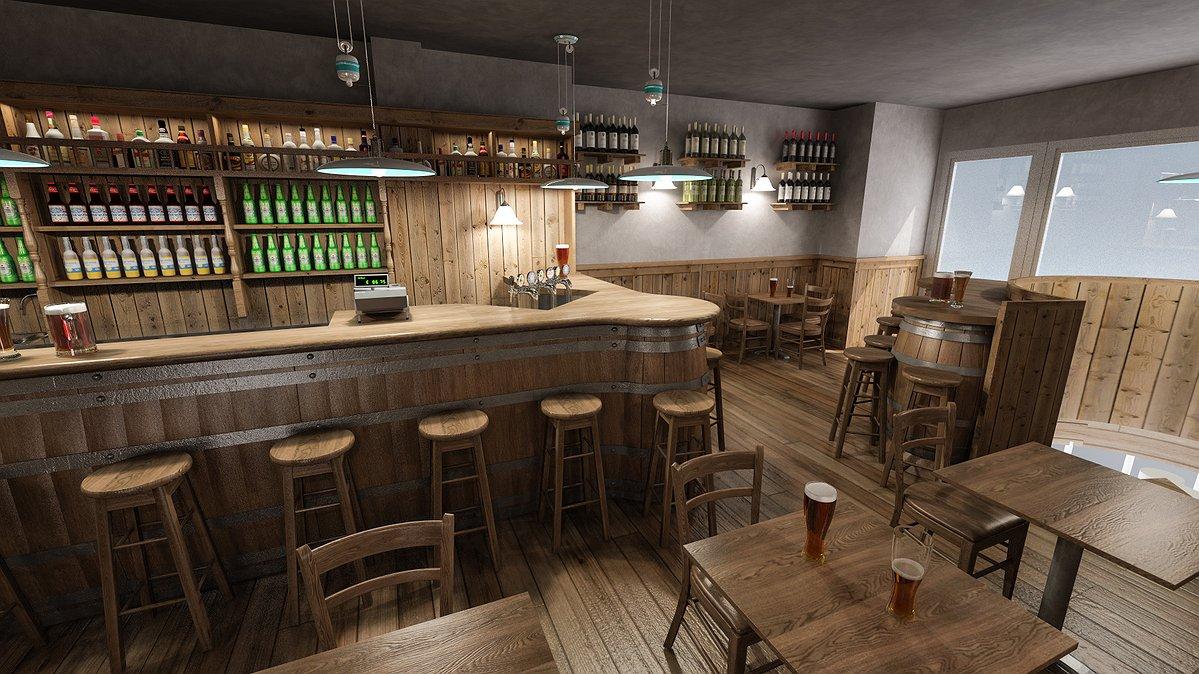 Studio sagitair architettura interior design render for Birreria arredamento