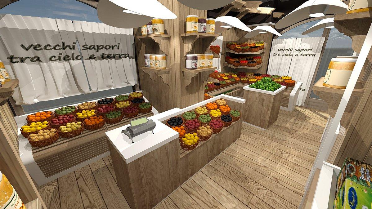 Studio sagitair architettura interior design render for Arredamento frutta e verdura