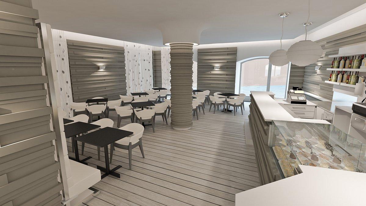 Arredamento moderno bar bar a vigonza ristorante con for Arredamento moderno bar