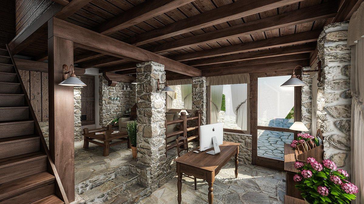 Studio sagitair architettura interior design render for Progetto casa design