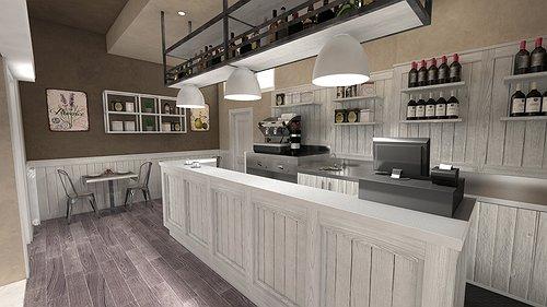 Studio sagitair architettura interior design render for Arredamento ristorante shabby chic